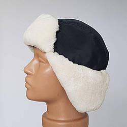 Зимняя мужская шапка ушанка «Белая Цегейка»