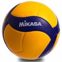 Мяч волейбольный MIKASA PU, №5, 5 сл., клееный  (V300W), фото 1