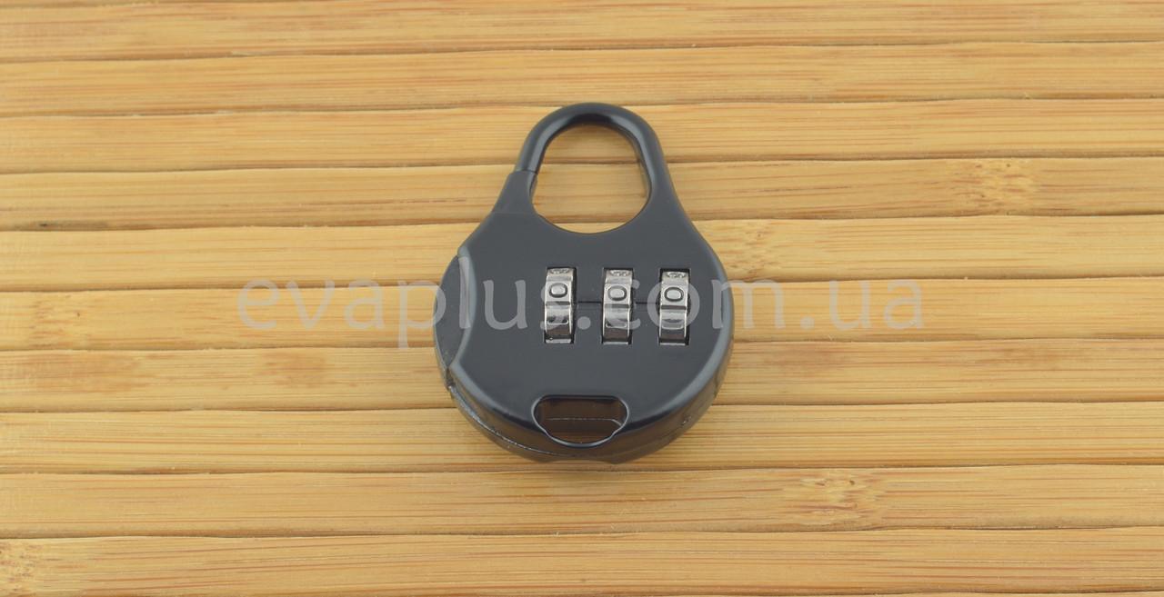 Навесной кодовый замок КД33 навесной (черный)