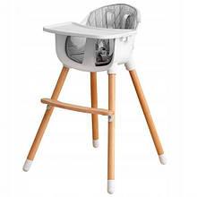 Деревянный стульчик для кормления 2 в 1  Eco baby
