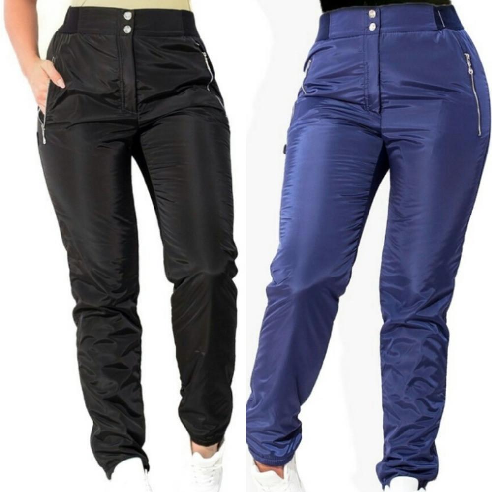 Штаны женские теплые, зимние, плащевка на флисе, стильные, повседневные, от 48 до 56 р, удобные, с карманами