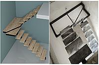 Лестница на центральной несущей (монокосоуре) в картиру, дом, котедж, таун-хаус, фото 1