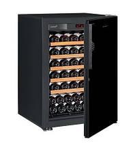Винный шкаф EuroCave S-Pure-S Сплошная дверь Black Piano, цвет - черный, максимальная комплектация