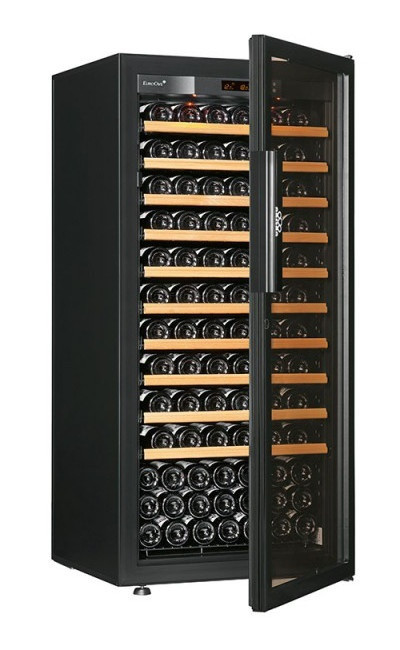 Винный шкаф EuroCave S-Pure-M Стеклянная дверь Full glass, цвет - черный, максимальная комплектация