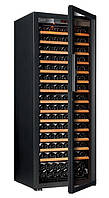 Винный шкаф EuroСave S-Pure-L Стеклянная дверь Full glass, цвет - черный, максимальная комплектация
