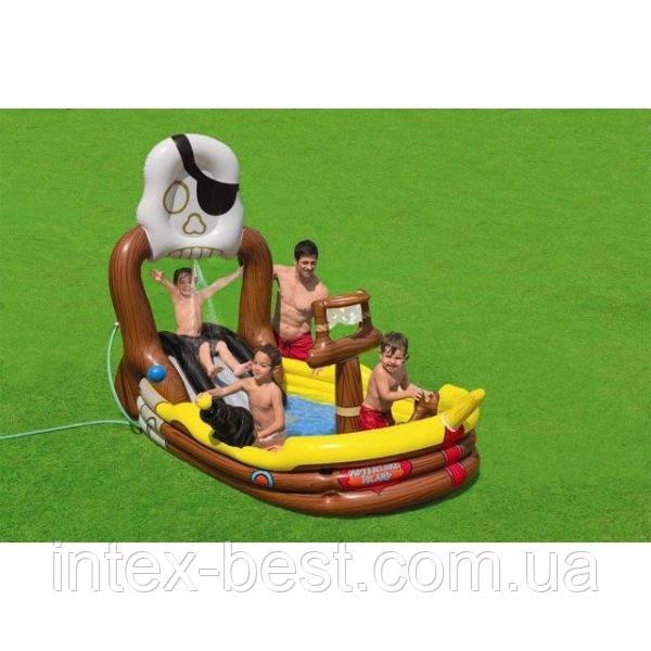 Детский надувной игровой центр Intex 57133 Pirate (292х218x168 см.)
