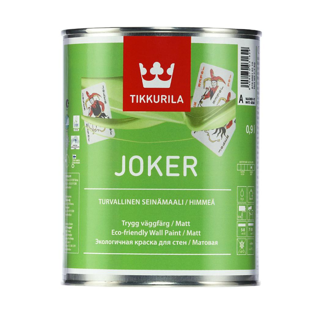 Интерьерная краска Tikkurila Joker 0.9л (Белая)