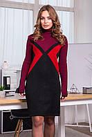 Платье вязаное Мейл 42-50 марсала