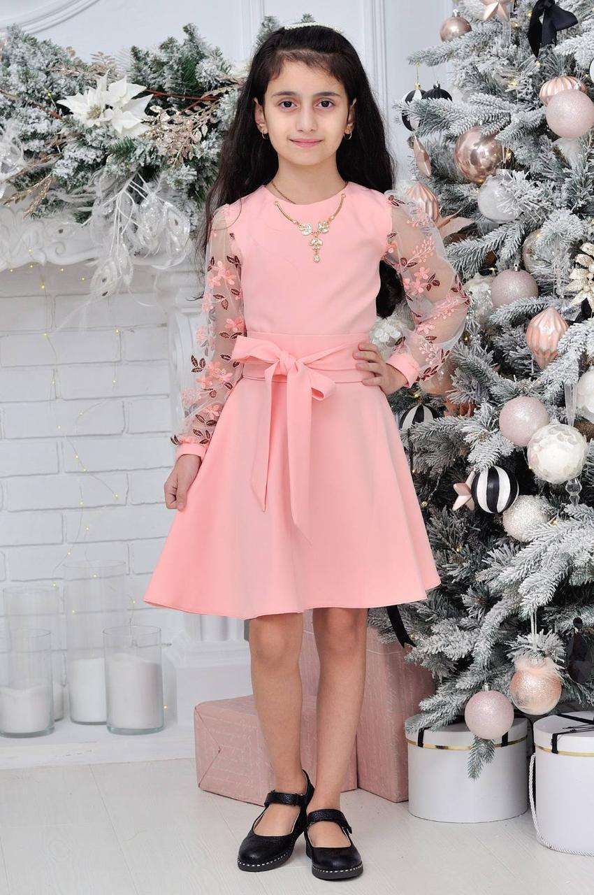 Детское нарядное платье с колье р.128-152 опт