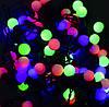 Гирлянда-штора светодиодная, НИТЬ ШАРИКИ, 60 LED лампочек