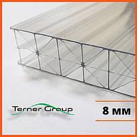 Сотовый поликарбонат 8 мм прозрачный SOTON TITAN
