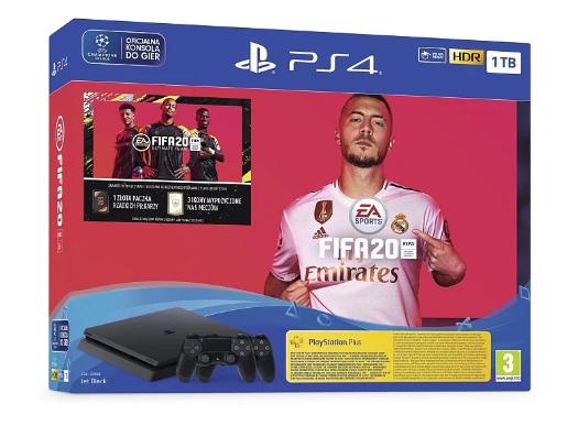 Консоль SONY PlayStation 4 Slim 1 ТБ + игра Fifa 20 + 2 x DualShock 4