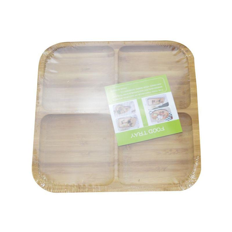 Бамбуковая подставка для фруктов/орешков