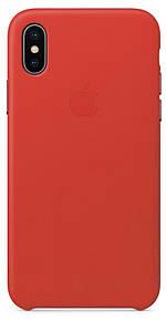Чехол накладка на iPhone Х/XS Leather Case красный