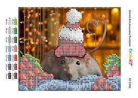"""А5 """"Новогодняя мышка"""" заготовка для вышивания"""