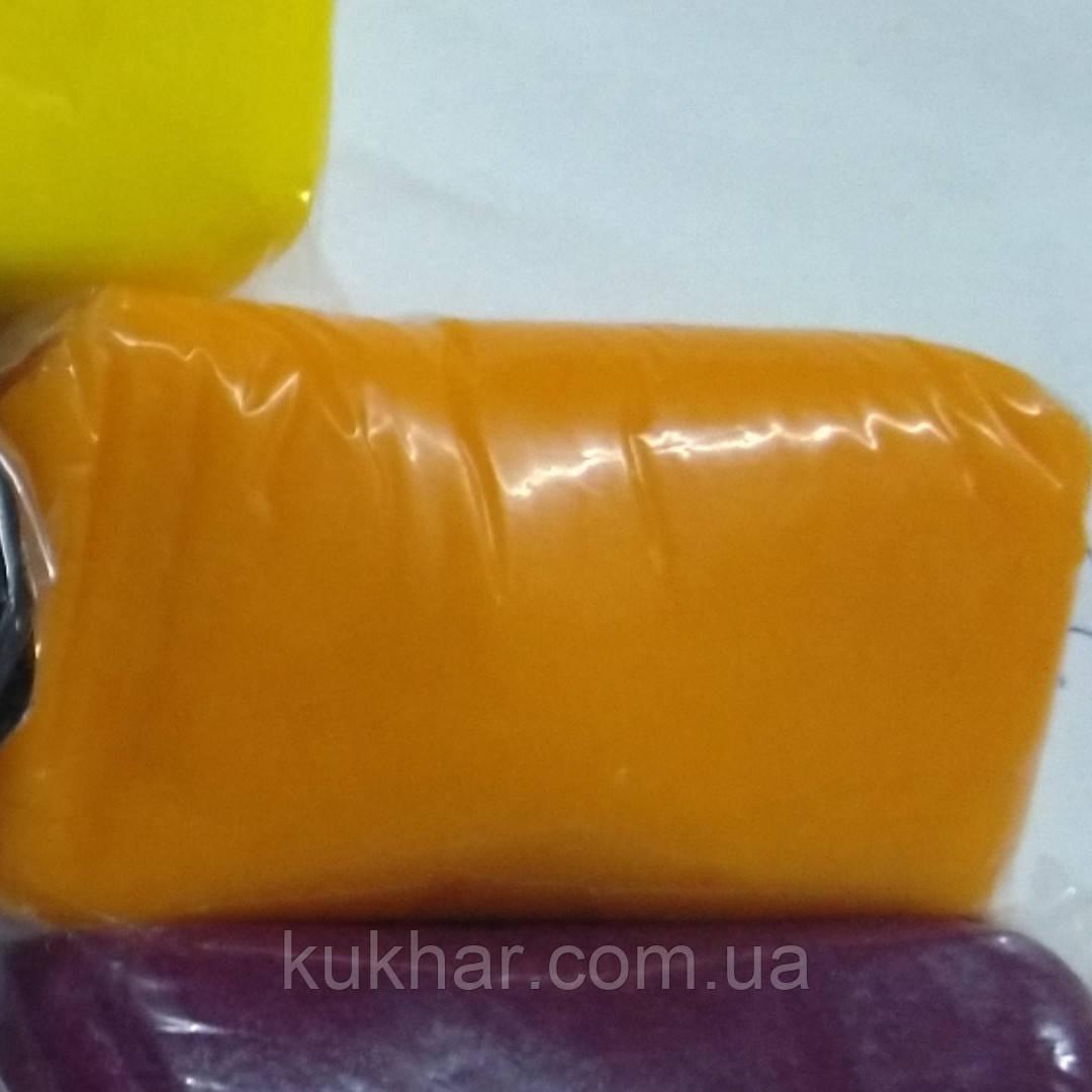 Мастика Цукрова кондитерська маса по 100г (Оранжева)