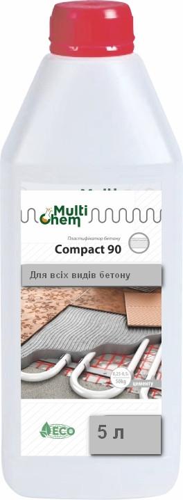 MultiChem. СуперПластифікатор Compact-90, 5 л. Пластификатор бетона и гипса (темный или светлый)., фото 1