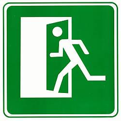 """Табличка (знак) аварійний вихід - """"на право"""""""