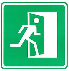 """Табличка (знак) аварійний вихід """"на право"""""""