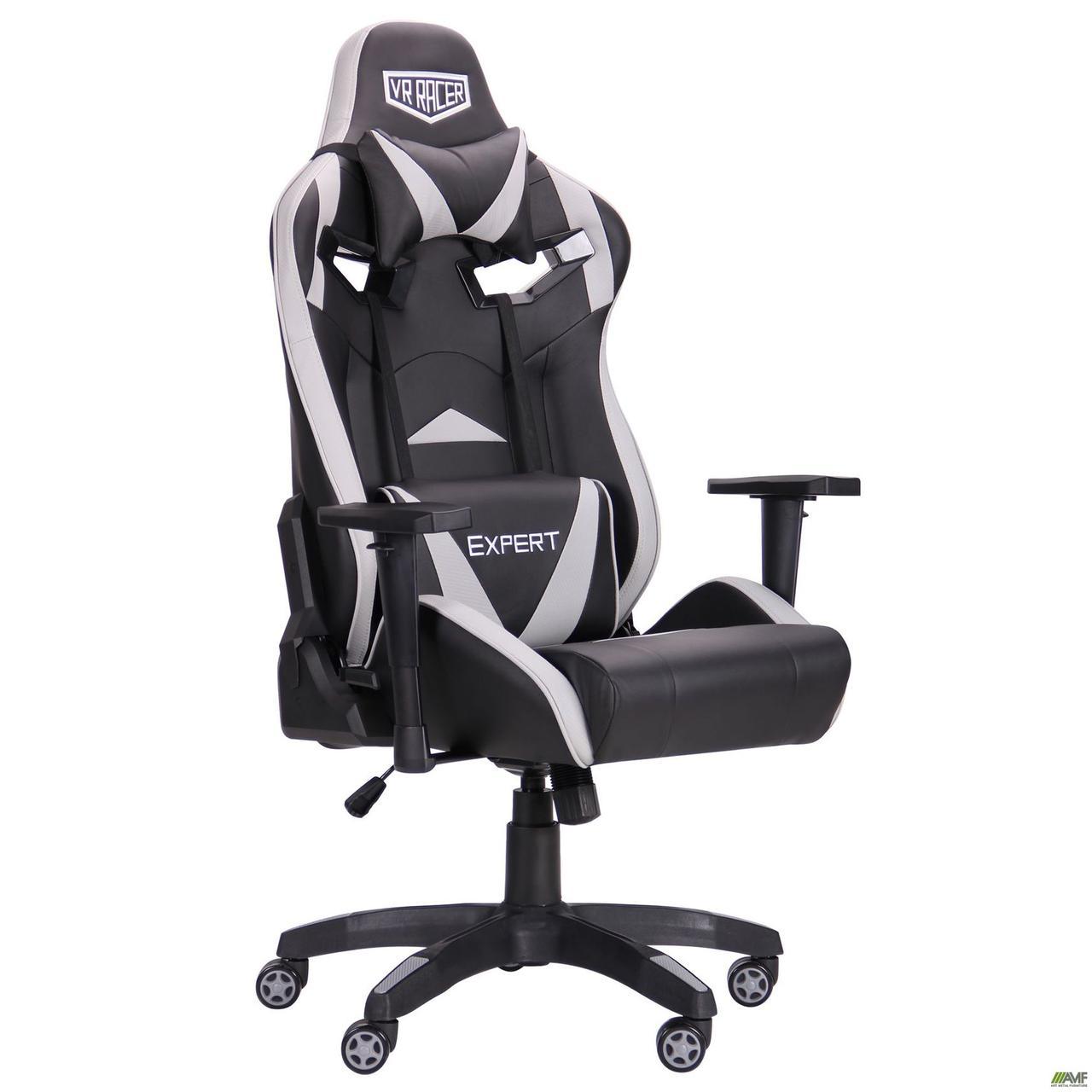 Кресло VR Racer Expert Wizard черный/серый TM AMF