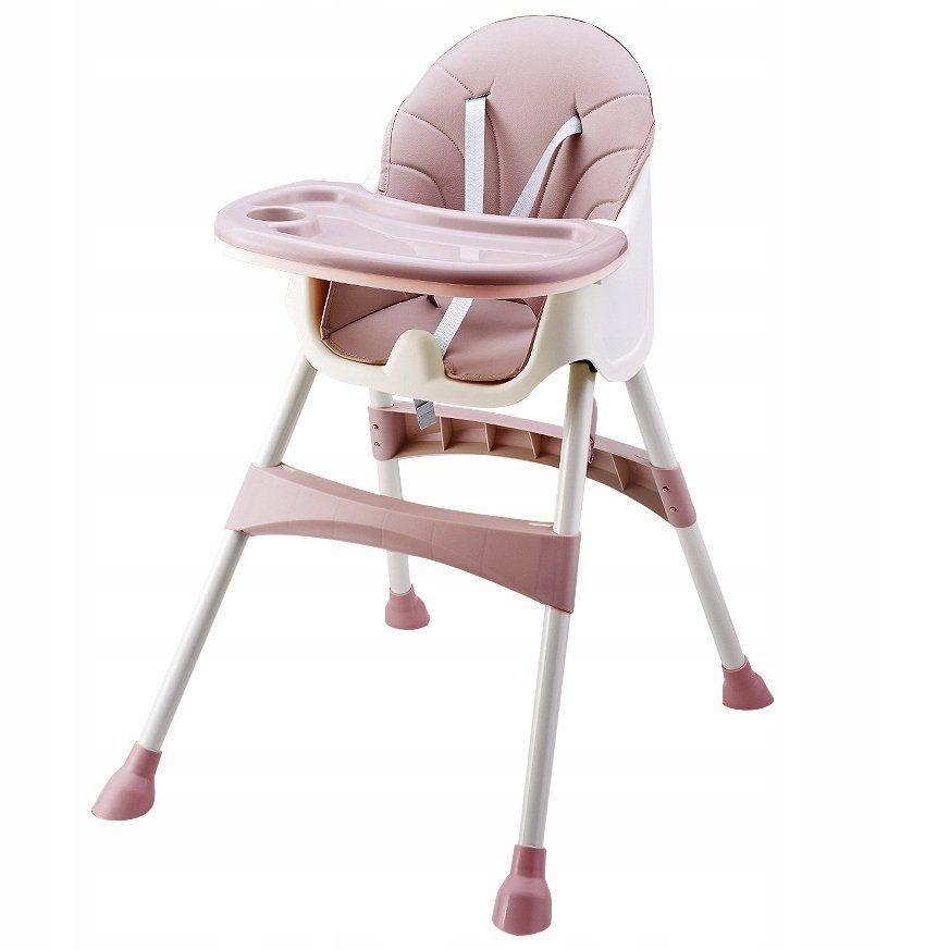 Стул для кормления 2 в 1  Eco baby розовый