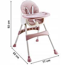 Стул для кормления 2 в 1  Eco baby розовый, фото 2