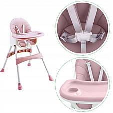 Стул для кормления 2 в 1  Eco baby розовый, фото 3