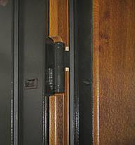 Металлические входные двери Редфорт Авеню. Наружные на улицу с ковкой и стеклом, фото 3