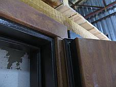 Металлические входные двери Редфорт Авеню. Наружные на улицу с ковкой и стеклом, фото 2