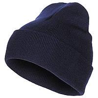 Шапка зимняя Бини MFH тонкой вязки 100% шерсть синяя 10933G, фото 1