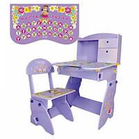 Регулируемая детская парта растишка со стульчиком Bambi W 070