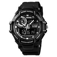 Skmei 1357 черные мужские спортивные часы, фото 1