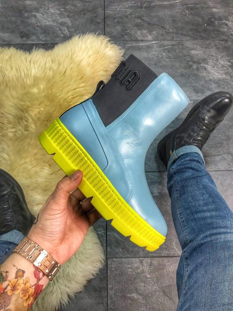 "Женские зимние ботинки Puma By Rihanna Chelsea Sneakers Boot ""blue limeade"""