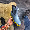"Женские зимние ботинки Puma By Rihanna Chelsea Sneakers Boot ""blue limeade"", фото 3"