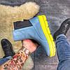 "Женские зимние ботинки Puma By Rihanna Chelsea Sneakers Boot ""blue limeade"", фото 5"