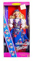 Коллекционная кукла Барби Норвегия Куклы Мира Barbie Norwegian Dolls of the World Collection 1995 Mattel 14450