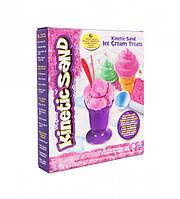 Набор песка для детского творчества - KINETIC SAND ICE CREAM (розовый, формочки, 283 г)