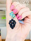 """Срібні сережки """"Виноградне гроно"""" з перлами, фото 3"""