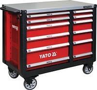 Шкаф-тележка инструментальный с 12 ящиками на колесах YATO YT-09003 (Польша)