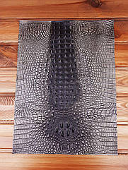 Кожа искусственная с тиснением крокодила 35*50см цвет Серый