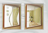 Шкаф-купе Стандарт с пескоструйным рисунком 1000-2400*450*2100
