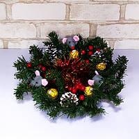Новогодний декор Веночек-подставка