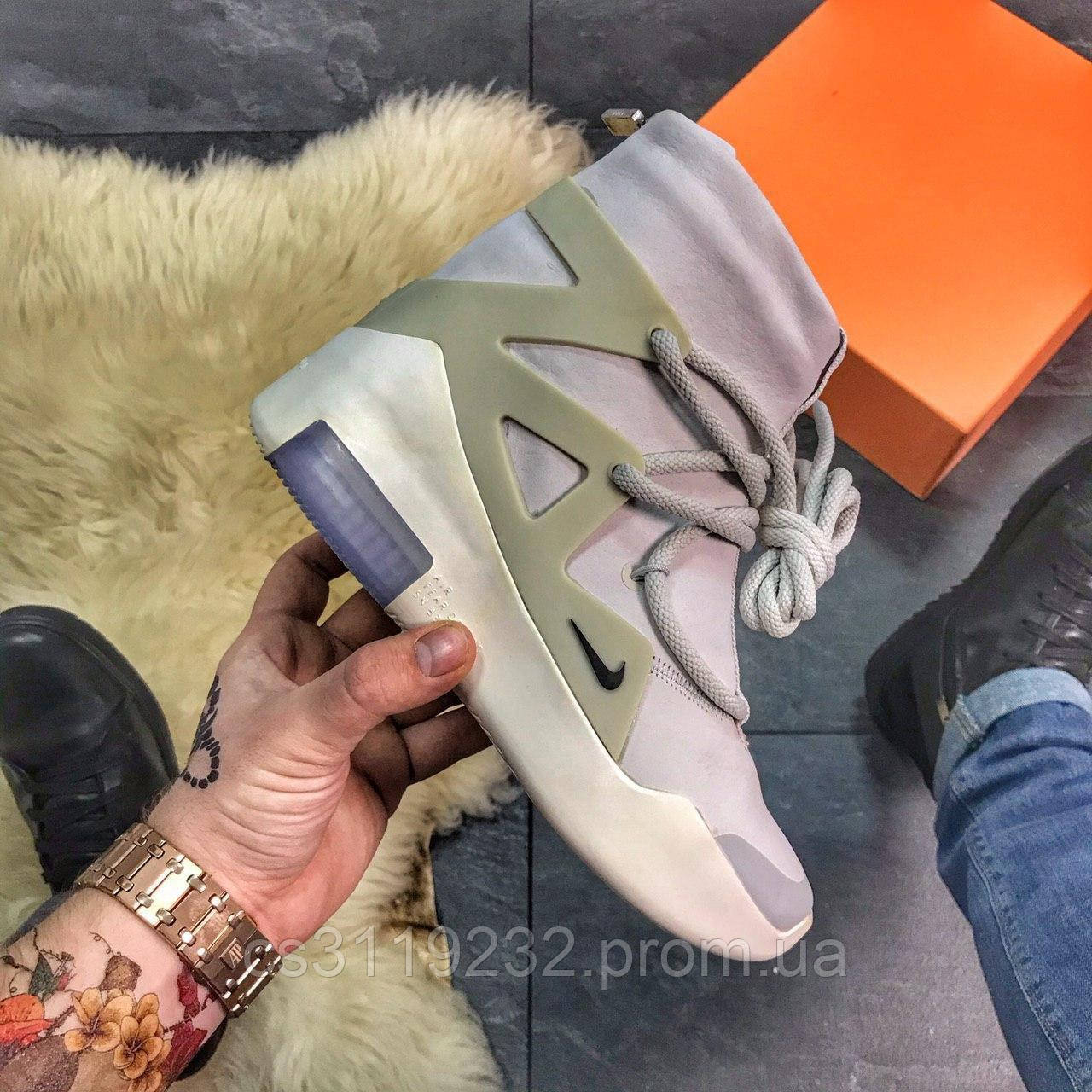 Жіночі кросівки Nike Air Fear Of God Light Bone (сірі)