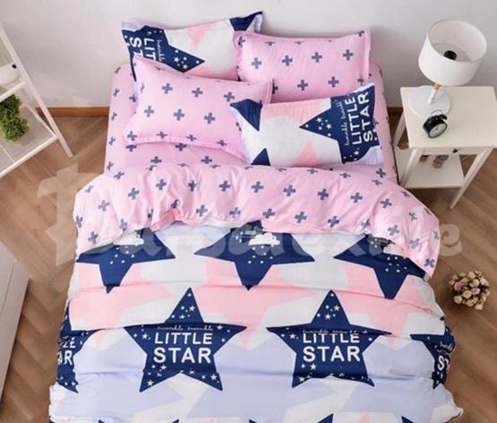 """Євро комплект постільної білизни """"Маленькі зірки"""", фото 2"""