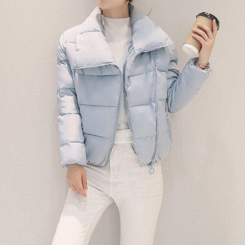 Куртка зимняя женская короткая, светло-голубой пуховик размер 46 (XXL) CC-6522-20