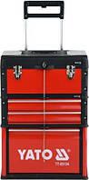 Ящик-тележка на колесах  с инструментом 78 единиц YATO YT-09104 (Польша)