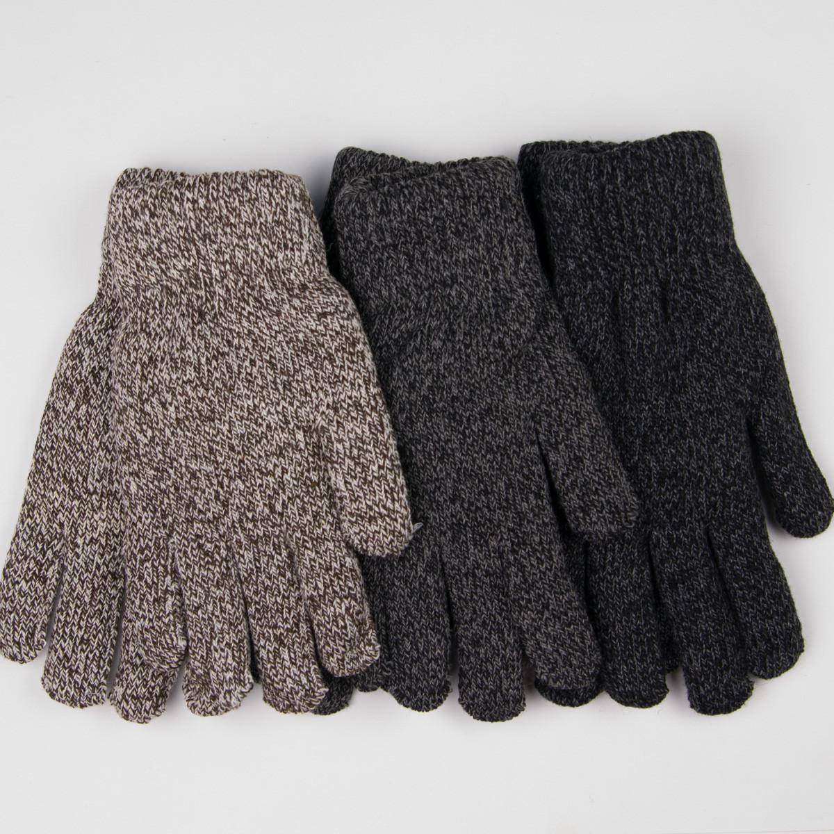 Оптом мужские вязаные зимние перчатки с начесом № 18-3-16