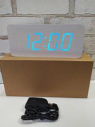 Часы настольные дерево VST-865 (белые)