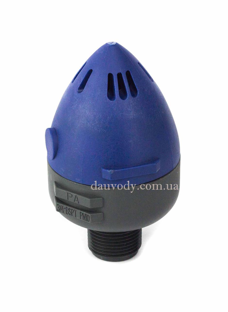 """Клапан воздушный выпускной 3/4"""" с верхним отводом"""