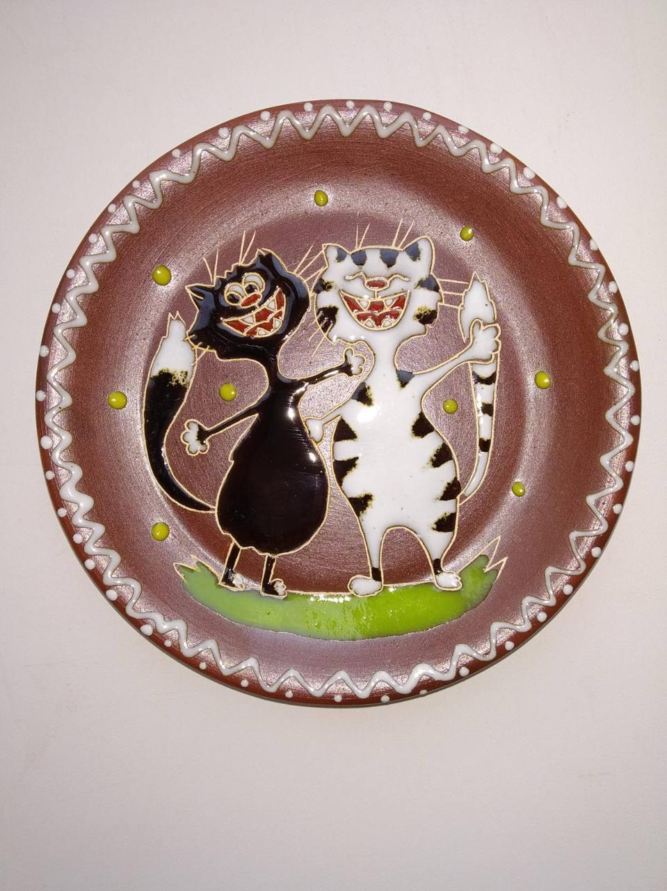 """Блюдце керамическое под чашку """"Коты весельчаки"""""""